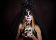 Woman on halloween royalty free stock photo