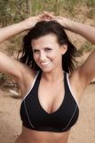 Woman in halter top up close Royalty Free Stock Photos