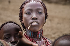 Woman from Hamer tribe Royalty Free Stock Photography