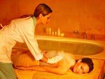 Woman in hammam or turkish bath royalty free stock photos