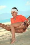 Woman in hammock Royalty Free Stock Image