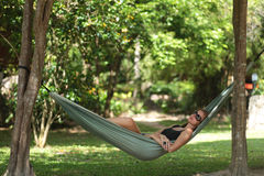 Woman in hammock Royalty Free Stock Photo