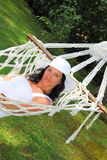 Woman in hammock Royalty Free Stock Images