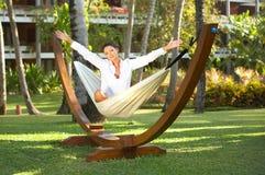 Woman on hammock Royalty Free Stock Photography