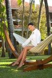Woman on hammock Royalty Free Stock Photo
