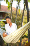 Woman on hammock Royalty Free Stock Photos