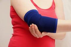 Woman hand and bandage Stock Photos