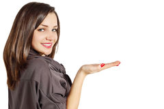 Woman with hand Stock Photography