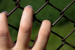 Woman hand of captivity Royalty Free Stock Photo