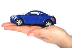 Woman hand and car Royalty Free Stock Photo