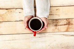 Woman hand with coffee. Royalty Free Stock Photo