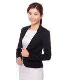 Woman hand on collar Royalty Free Stock Photo