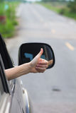 Woman hand doing thumbs-up Royalty Free Stock Image