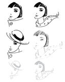 Woman hand drawings Royalty Free Stock Photography