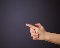 Woman hand with empty space Royalty Free Stock Photography