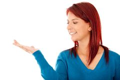 Woman with hand extended Stock Photography