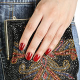 Woman hand with fashion bag Stock Image