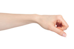 Woman hand in a fist Royalty Free Stock Photo