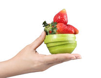 Woman hand with fruits Stock Image
