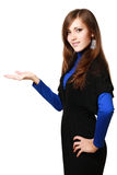 Woman with hand gesture Royalty Free Stock Image