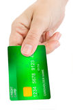 Hand giving credit card Stock Photos