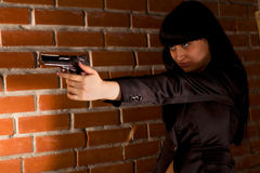 Woman With Hand Gun Royalty Free Stock Image