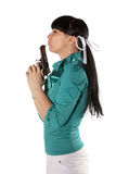 Woman With Hand Gun Royalty Free Stock Photos