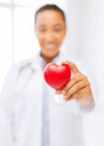 Woman hand with heart Royalty Free Stock Images