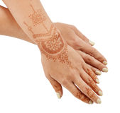 Woman hand with henna mehendi Stock Photo