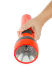 Woman hand hold flashlight Royalty Free Stock Photography