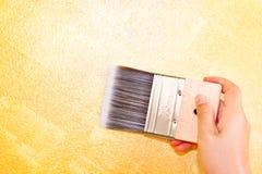 Woman hand holding brush Royalty Free Stock Image