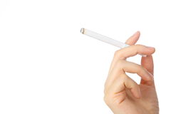 Woman hand holding a cigarette Stock Image