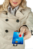 Woman hand holding credit card Royalty Free Stock Photography