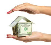 Woman hand Holding The house Royalty Free Stock Photos