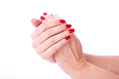 Woman hand holding items Stock Photography