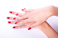 Woman hand holding items Stock Images