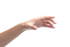 Woman hand holding object Royalty Free Stock Photography