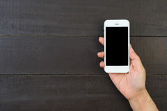 Woman hand holding  smart phone. Stock Photography