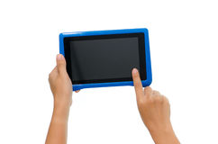 Woman hand holding tablet Stock Photography