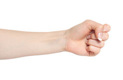Woman Hand In A Fist Stock Photos