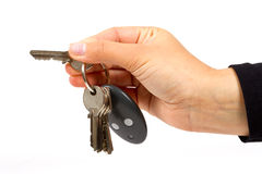 Woman hand with keys Stock Image
