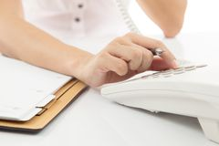 Woman hand making note Royalty Free Stock Images