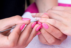 Woman hand on manicure Stock Photography