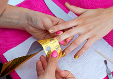 Woman hand on manicure Stock Image