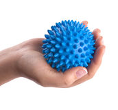 Woman hand with massage ball Stock Photos