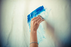 Woman hand painting Royalty Free Stock Photo