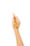 Woman hand with a pencil Royalty Free Stock Images