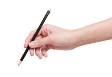 Woman hand with pencil Stock Photography