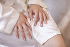 Woman hand Stock Images