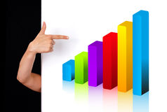 Woman hand pointing to chart Royalty Free Stock Image